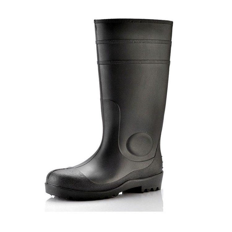 steel toe wellingtons longson black