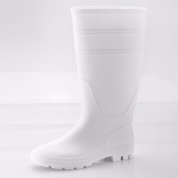 non steel pvc safety boots longson white