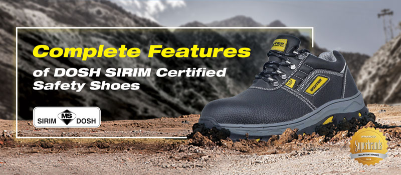 features of dosh sirim safety shoes