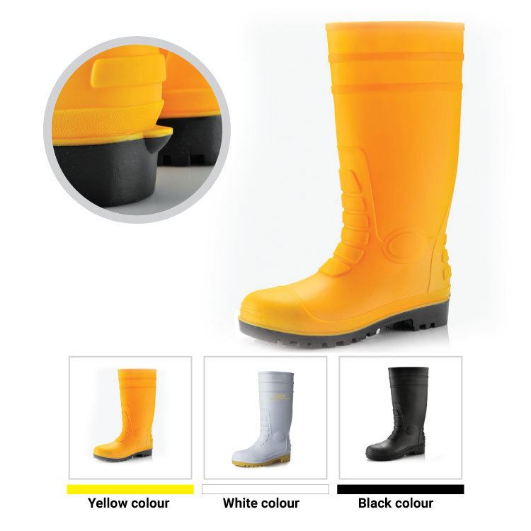 steel toe wellington safety shoes