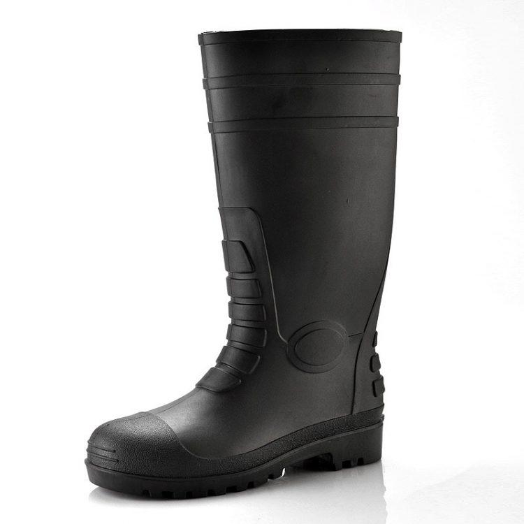 pvc safety boots longson black