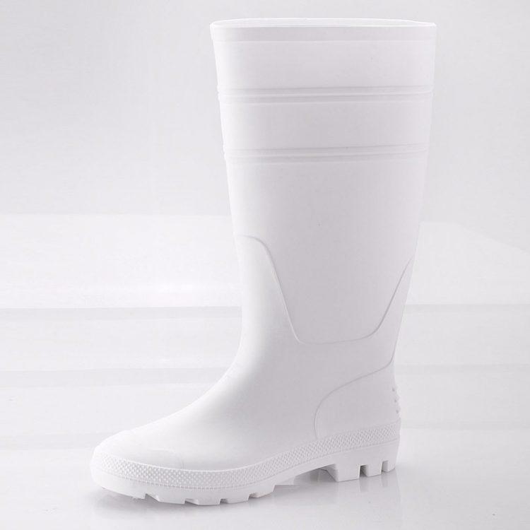 pvc safety boots longson white